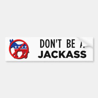 dont-b-a-jackass car bumper sticker