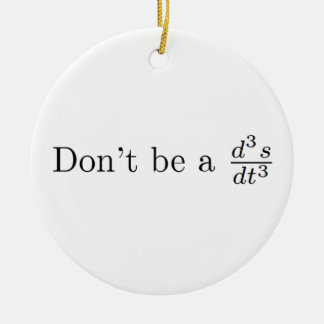 Don't be a jerk Double-Sided ceramic round christmas ornament