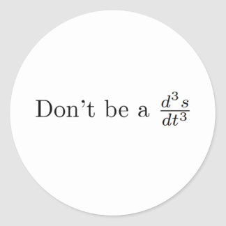 Don't be a jerk classic round sticker