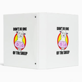 don't be a sheep binder