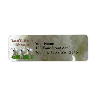 Don't Be a Sheep (Conformity) Return Address Label