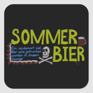 Don't Be A Square. Drink Beer. Square Sticker
