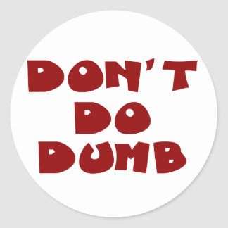 Don't be a stupid idiot (2) stickers