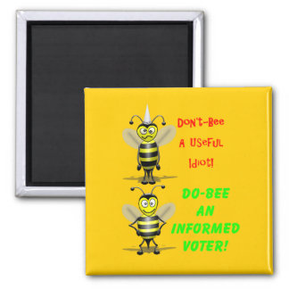 Don't Be A Useful Idiot 2 Inch Square Magnet