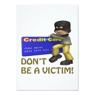 Dont Be A Victim 5x7 Paper Invitation Card