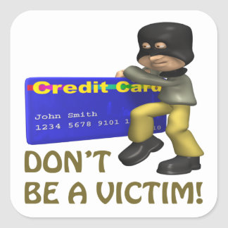 Dont Be A Victim Square Sticker