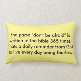 don't be afraid lumbar pillow