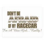 Don't Be Afraid of My Racecar.... Postcard
