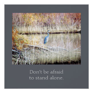 Don't Be Afraid to Stand Alone Poster