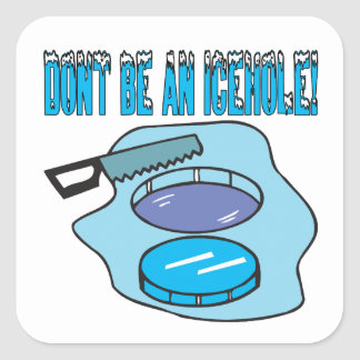 Dont Be An Icehole Square Sticker