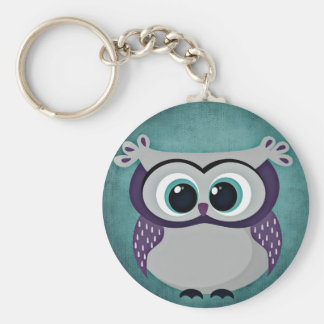 Don't Be Blue Owl Button Keychain