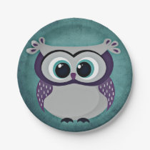 Don't Be Blue Owl Paper Plate