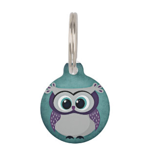 Don't Be Blue Owl Pet Tag