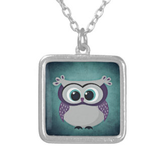 Don't Be Blue Owl Silver Plated Necklace