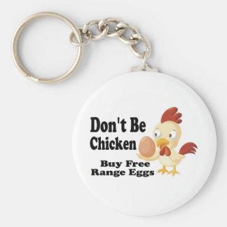 Don't be Chicken Keychain