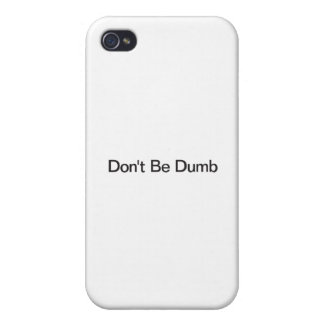 Don't Be Dumb iPhone 4/4S Case