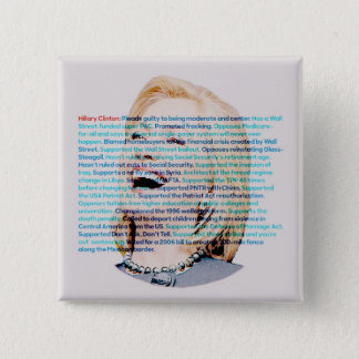 Don't be fooled by Hillary Pinback Button