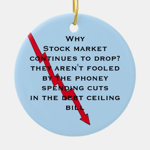 Don't be fooled by phoney spending cuts christmas tree ornament