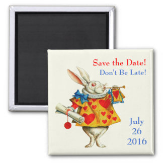 Don't Be Late! 2 Inch Square Magnet