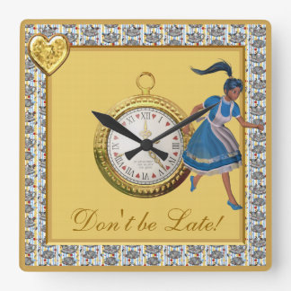 Don't be Late Alice in Wonderland Tea Party Clock