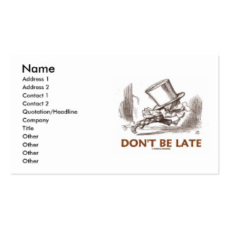 Don't Be Late (Mad Hatter Wonderland) Business Card