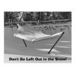 Don't Be Left Out in the Snow Postcard