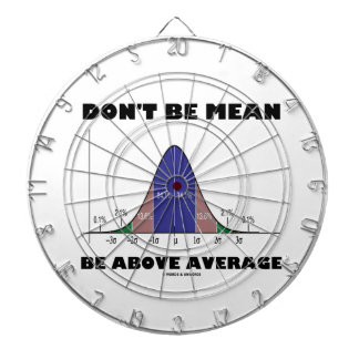 Don't Be Mean Be Above Average (Bell Curve Humor) Dart Board
