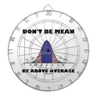 Don't Be Mean Be Above Average (Bell Curve Humor) Dartboard
