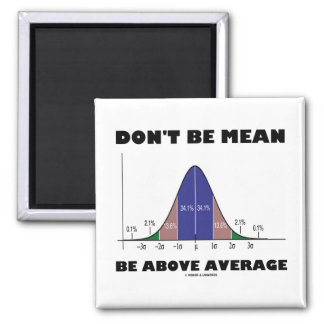 Don't Be Mean Be Above Average (Statistics Humor) Magnet