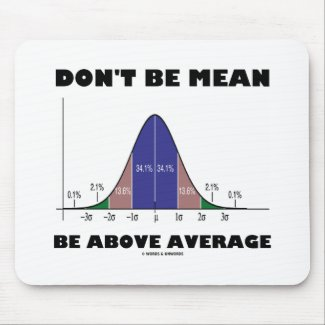Don't Be Mean Be Above Average (Statistics Humor) Mouse Pads