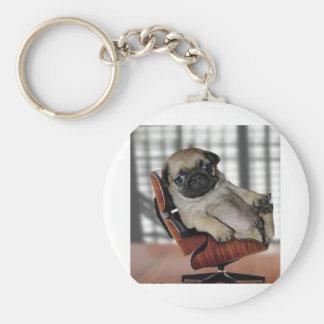 Don't be Pugnacious! Basic Round Button Keychain