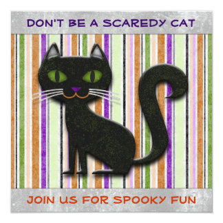 Don't Be Scared Halloween Cat Decorative Design Card