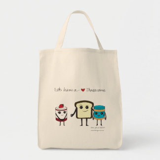 Don't be shy Jelly! Let's have a threesome! Tote Bag