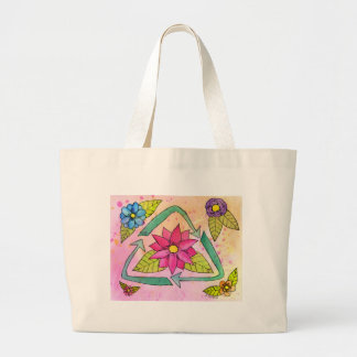 Don't be Trashy...Recycle! Large Tote Bag