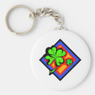 Don't be Without Your Lucky Shamrock!!! Basic Round Button Keychain