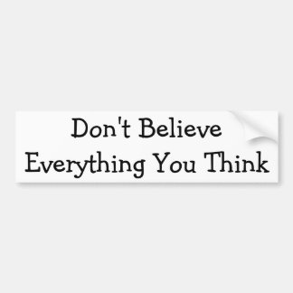 Don't Believe Everything Bumper Sticker
