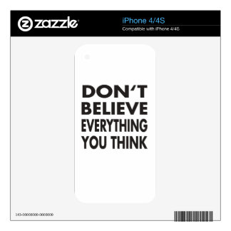 Don't believe everything you think iPhone 4 skin