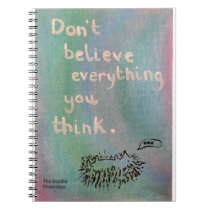 Don't Believe Everything You Think - Wise Hedgehog Notebook
