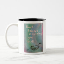 Don't Believe Everything You Think - Wise Hedgehog Two-Tone Coffee Mug