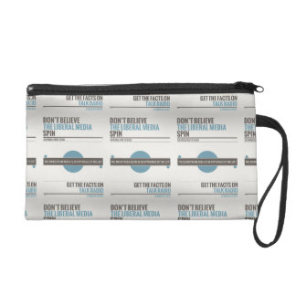 Don't Believe The Liberal Media Wristlet Purse