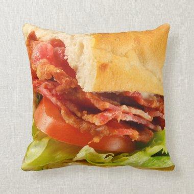Don't Bite Me Sandwich Throw Pillow