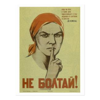 Don't blab! (1941)_Propaganda Poster Postcard