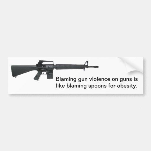 Don't Blame Guns Bumper Stickers