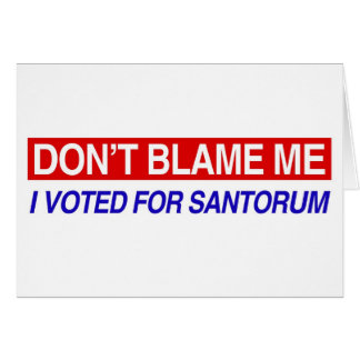 Don't Blame Me Card