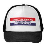 Don't Blame Me Hats