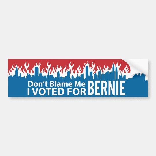 I Voted Bernie Sanders Bumper Stickers 10 Don/'t Blame Me.. FREE SHIP!