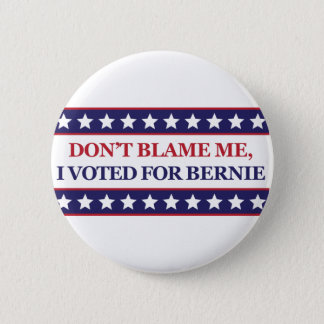 Don't blame me I voted for Bernie Pinback Button