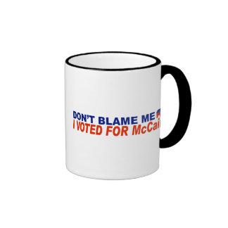 Don't Blame Me I Voted For McCain Coffee Mug