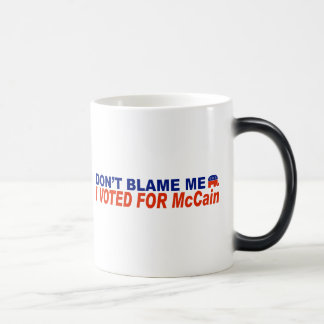 Don't Blame Me I Voted For McCain 11 Oz Magic Heat Color-Changing Coffee Mug