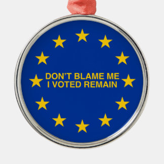 Don't blame me, I voted for Remain Metal Ornament